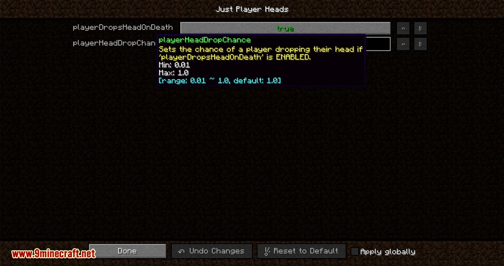 Just Player Head mod for minecraft 08