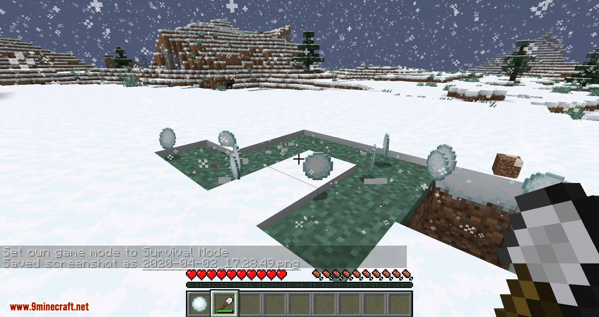 Snowballs Freeze Mobs mod for minecraft 05