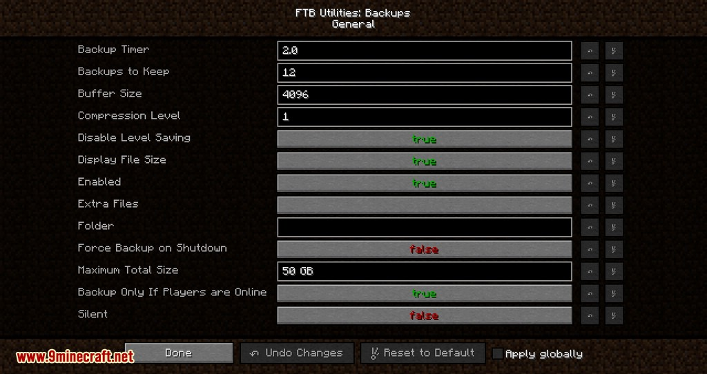 FTB Utilities Backups mod for minecraft 08