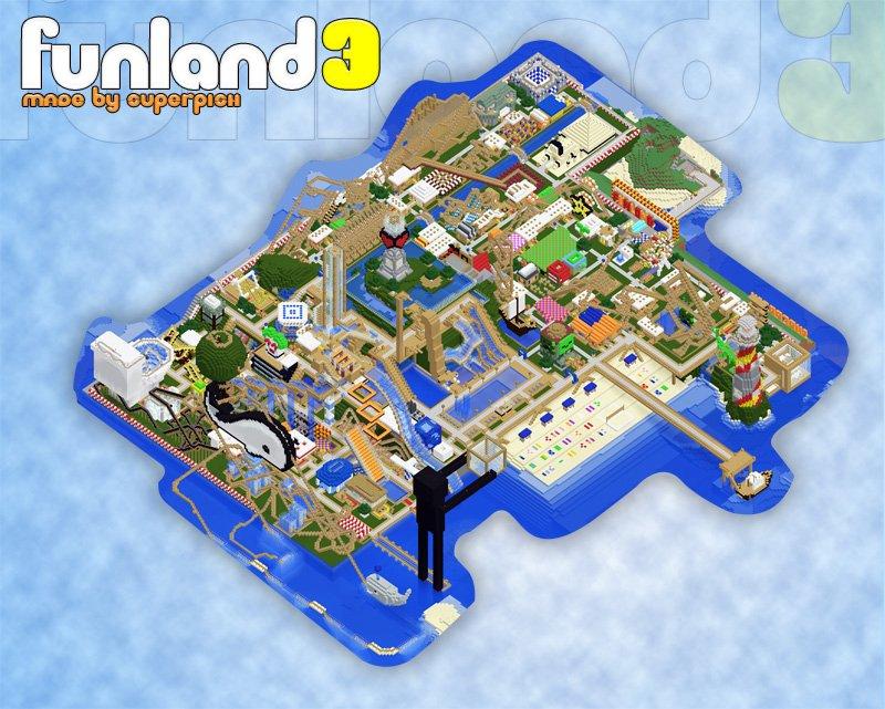 The best Minecraft Creation Maps - Funland 3 maps