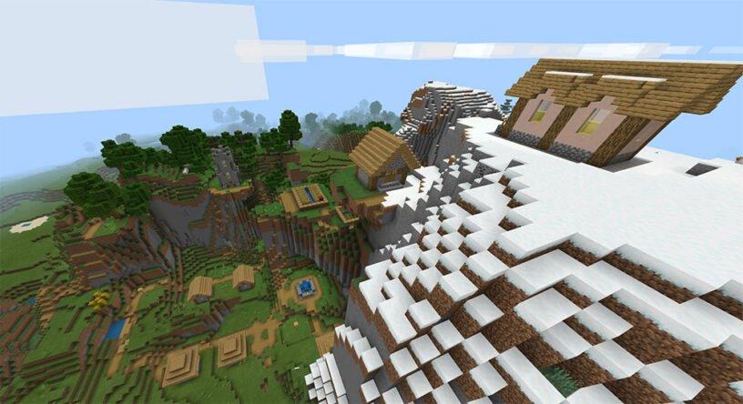 Amazing Mountain Village (Bedrock - 1.14+)