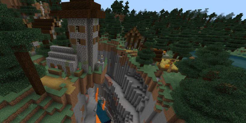 Village w/Ravine & Jungle Biome (Bedrock - 1.14.6)