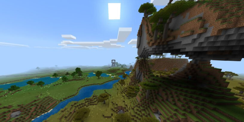 Pillager Outpost, Floating Island, & Many Villages! (Bedrock - 1.14.6)