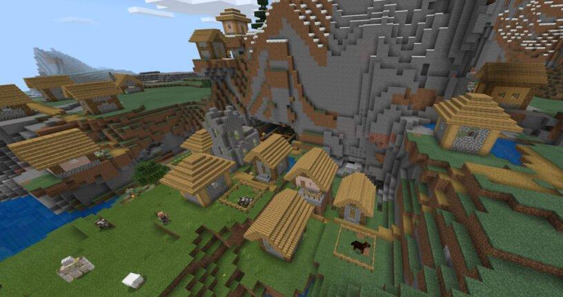 Mountain Village w/Monster Spawner Seed