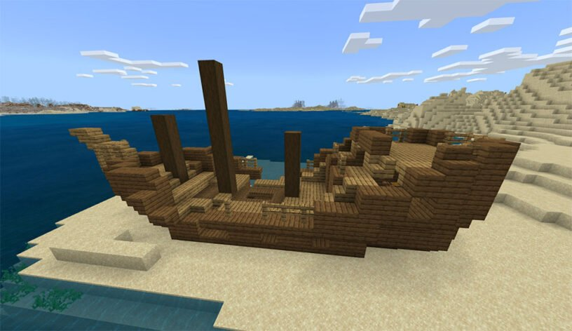 Many Biomes: Surface Shipwreck, Coral, Desert Village/Temple Seed