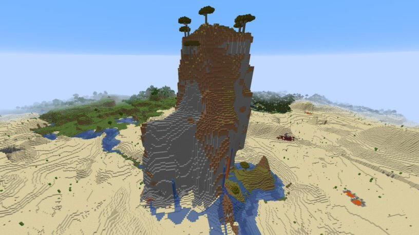 Savanna Mountain in the Desert: -676569119515363