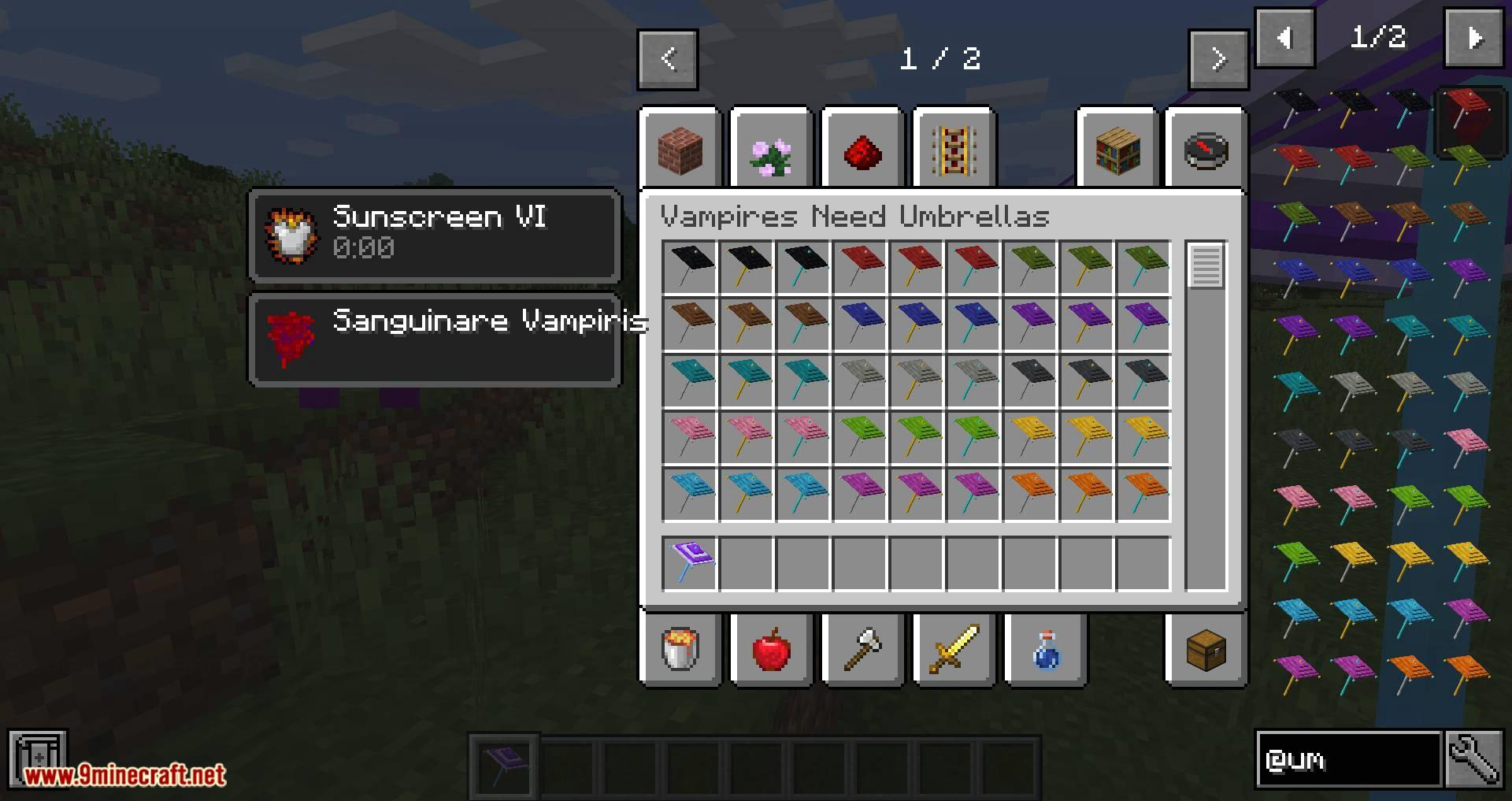 Vampires Need Umbrellas mod for minecraft 11