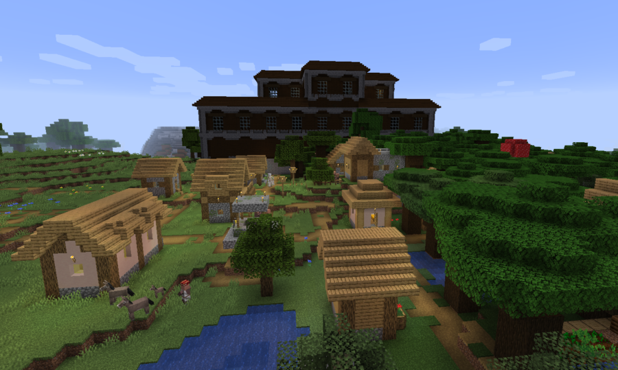 Blacksmith, Blocks, and Gear in Mansion! - Top 8 best Minecraft Diamond Seeds 1.16 - All Platforms