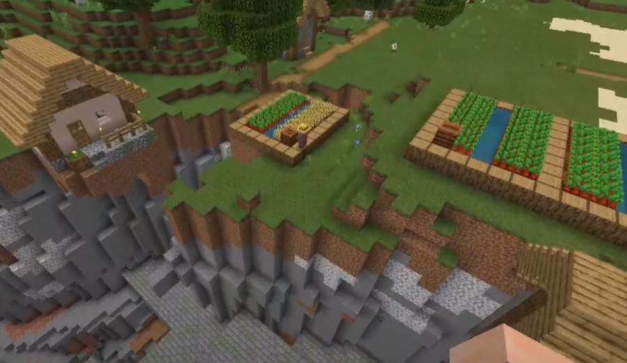 Stronghold Ravine Village at Spawn