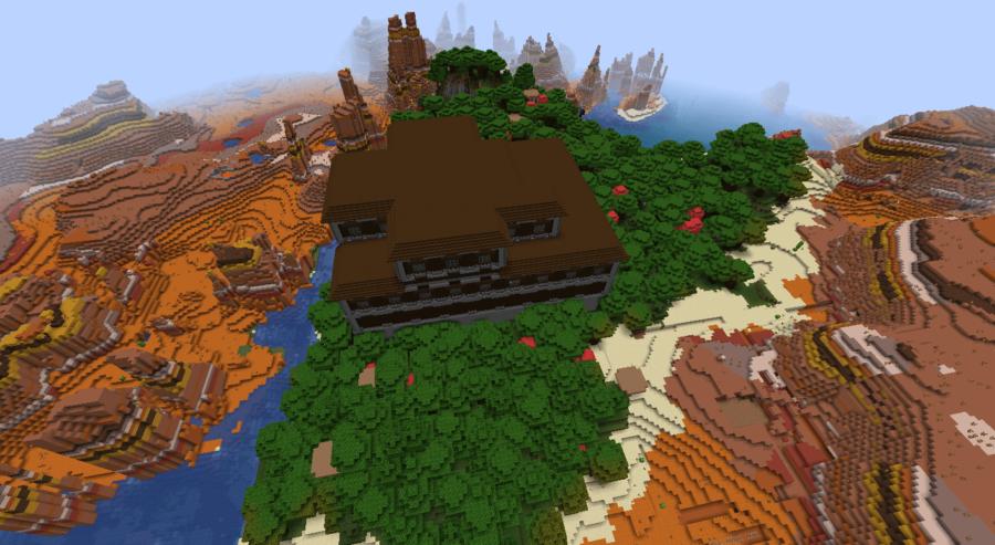 Mansion Oasis - Top 5 Best Minecraft 1.16.5 Java Seeds | Java Seeds 1.16.5 for Minecraft