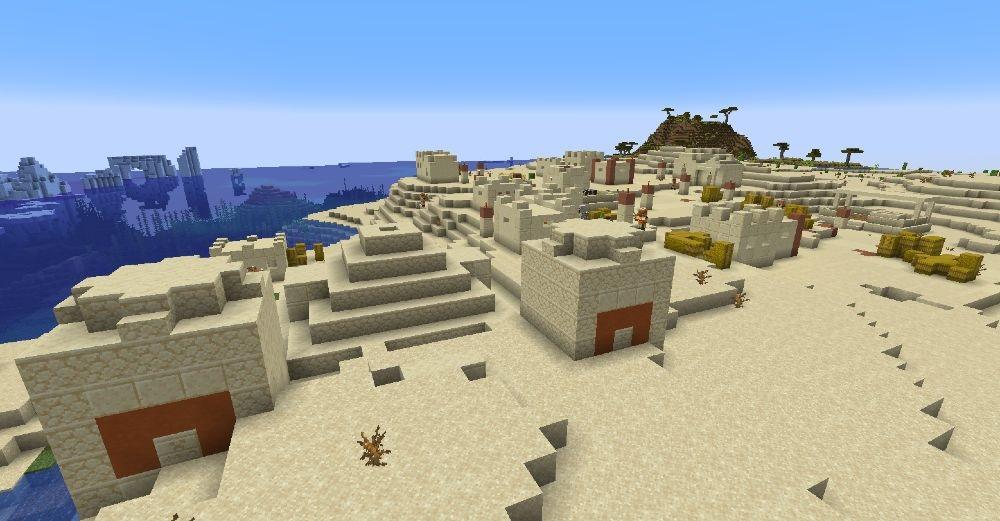 The Fire Temple - Top 10 Best Minecraft Seeds 1.17 Caves & Cliffs - All Platform