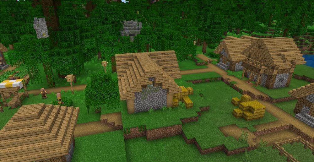 Jungletown - Top 10 Best Minecraft Seeds 1.17 Caves & Cliffs - All Platform