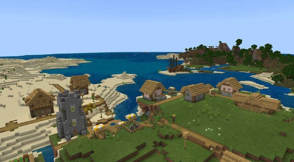 A Town of Pirates - Top 10 Best Minecraft Seeds 1.17 Caves & Cliffs - All Platform