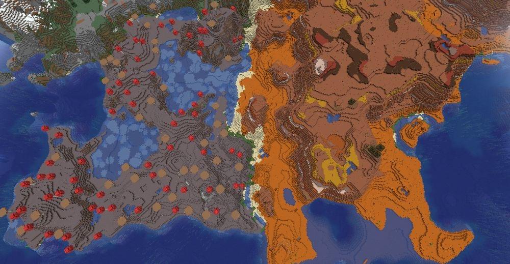 Mushroom Mesa - Top 10 Best Minecraft Seeds 1.17 Caves & Cliffs - All Platform