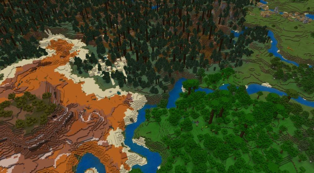 Rare World - Top 10 Best Minecraft Seeds 1.17 Caves & Cliffs - All Platform